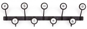 Just my type – the keyboard coat rack