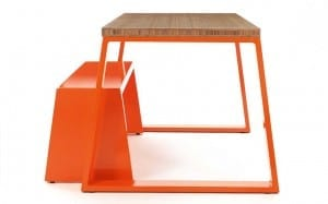Jennifer Newman's juicy bamboo-topped table