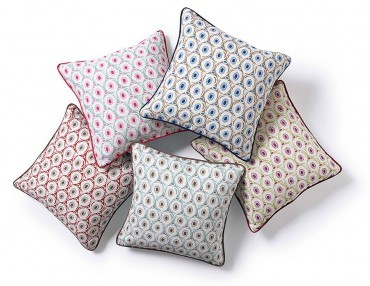 Hop to it: Cosy cushions from Nina Campbell