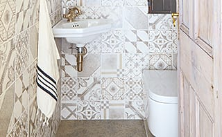 Muted Moroccan: Mandarin Stone tiling