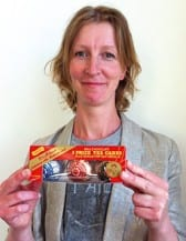 ] Edinburgh-based textile and product designer Claire Duffy has worked in collaboration with Tunnock's, using the confectioner's iconic teacake packaging as the starting point for a series of gold, silver and bronze medals.