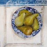 Moy Pears, Spode and Lace by Janet Cleghorn