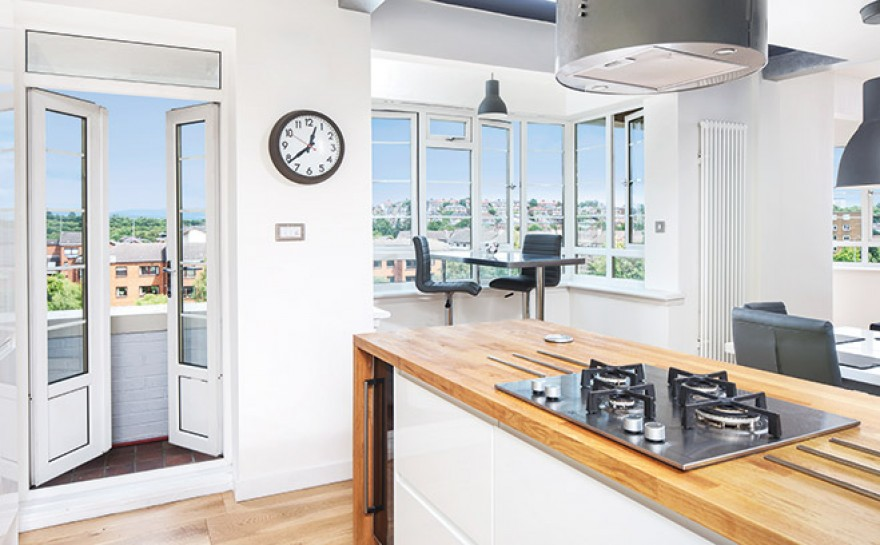 American and scottish flavours in this remodelled pad homes interiors scotland for Swimming pool west end glasgow