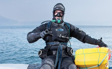 Guy Grieve, shellfish diver