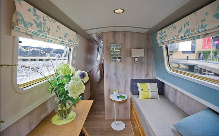 canal barge gets makeover homes interiors scotland