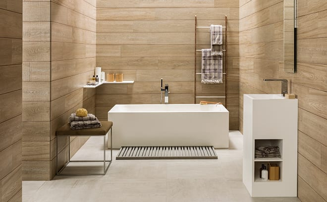 Superieur Emphasise A Panelled Space By Echoing Its Straight Edges In The Furniture  And Fittings And Sticking To An Orderly, Earthy Palette. Porcelanosau0027s Ras  Bath ...