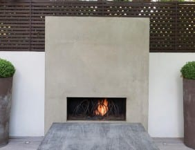 Organic forms inspired the Loop fireplace