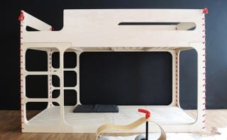 Crafted from recyclable birch plywood, the Amber in the Sky bunk beds are equally environmentally conscious