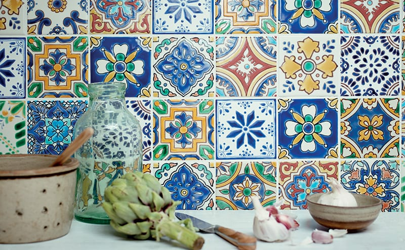 Inspired By The Shades Of Mexican Ceramics And Interiors These Colourful Patterned Tiles From Fired Earth Will Add A Touch Boho
