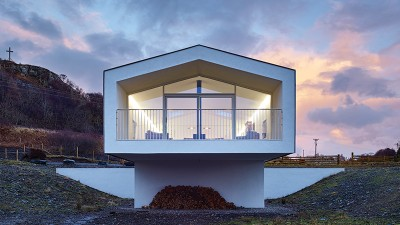 Big views dominate at this upside down Highland house
