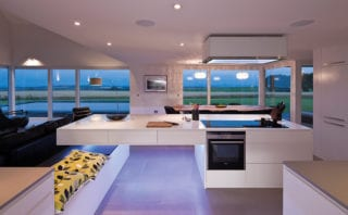 View from Kitchen - Graeme Hutton and Mark O'Connor of LJR&H