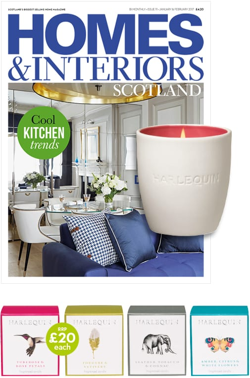 Free Harlequin candle with subscription