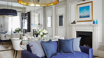 A city pied-a-terre is given a thoroughly glamorous makeover