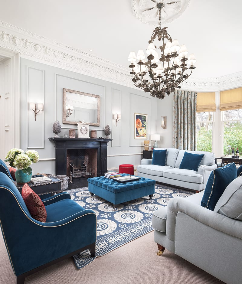 As both owner and interior designer of a six bedroom property in edinburgh that has recently undergone a complete refurbishment she has been at the sharp