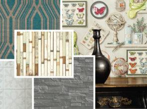 Sampler: Fantastic faux wallpaper