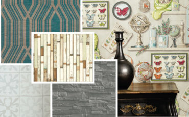 Sampler: Fantastic faux wallpaper