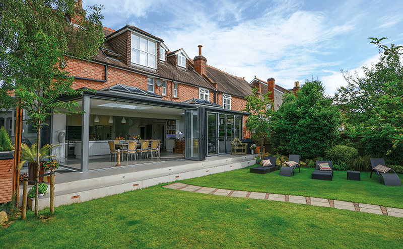 XP View bi-folding doors, approximately £1,150 per panel installed, Express Bi-folding Doors