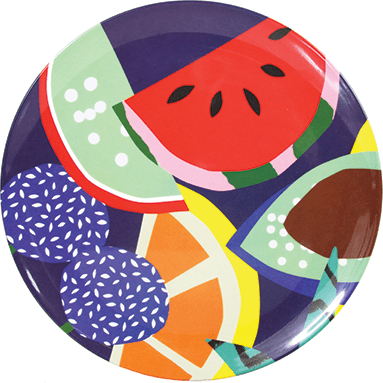 Fruit Melamine Plates, £8 each, National Theatre Bookshop