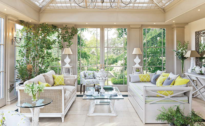Find inspiration and start planning that conservatory for Orangery interior design ideas