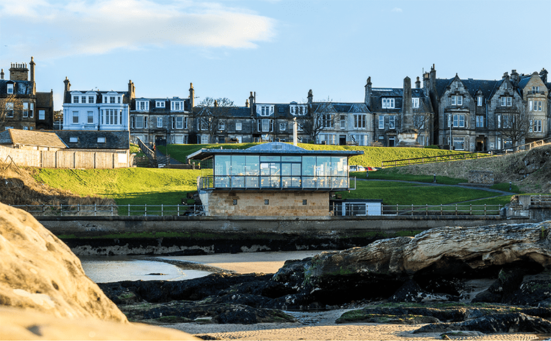 The glass box is a distinctive St Andrews landmark