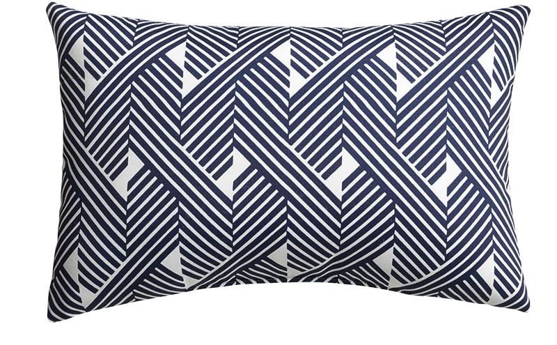 Knot Striped Outdoor Lumbar Pillow, £29.04, Crate & Barrel