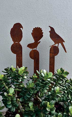 NZ native birds set in corten steel, £112.65, LisaSarah