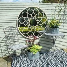 Decorative Garden Mirror, £285, MiaFleur