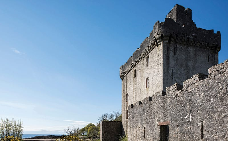 A 16th-century tower house built by the Bishop of Argyll, Saddell Castle was sensitively restored by the Landmark Trust and is now self-catering holiday accommodation for up to eight people. It sits in a stunning location with views across the Kilbrannan Sound to Arran