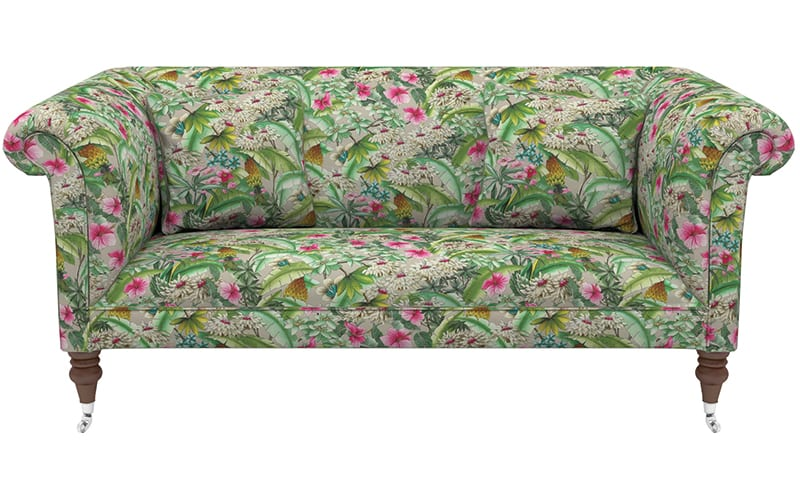 Brighton midi sofa in Manuel Canovas Ibiza tropical fabric, £2,712, Sofas & Stuff