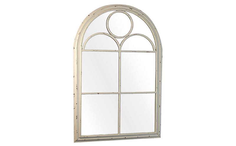 Minterne Large Cream Arched Garden Wall Mirror, £215, The Chandelier & Mirror Company