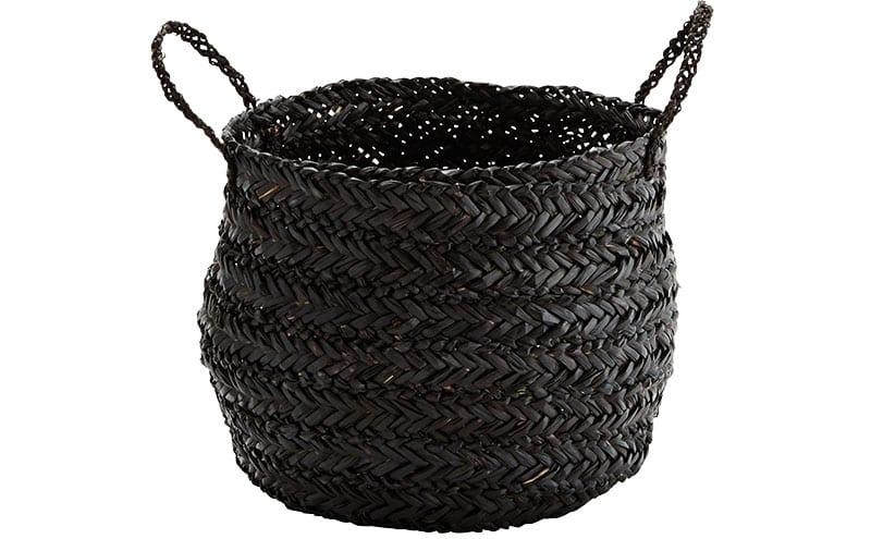 Seagrass Basket in Black, £38, Mink Interiors