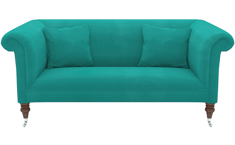 THE TEAL DEAL Grab a seat with Sofas & Stuff's Brighton midi sofa in Portland brilliant velvet in Capri