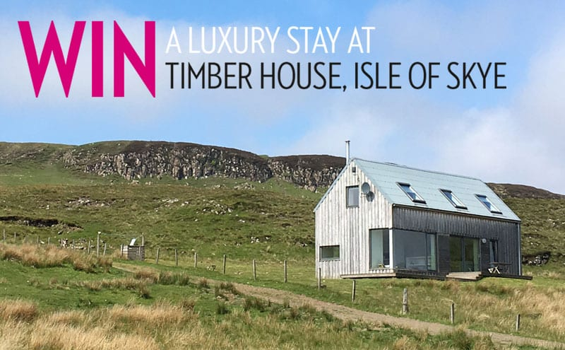 Win a luxury stay at Timber House, Isle of Skye