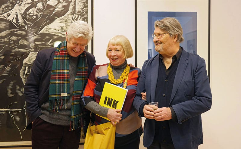 Sam with her long-term collaborators, contemporaries and friends, Sandy Moffat and David Harding