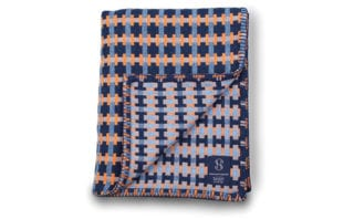 Puzzle blanket in Harbour, £280, Heather Shields