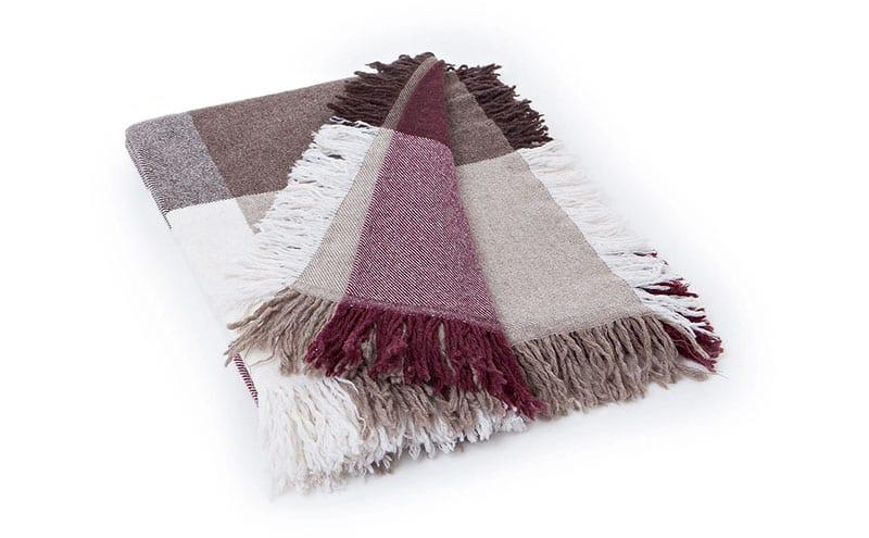 Sqaure Wool Throw in Red-Beige, £129, Lexington