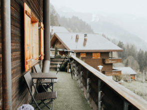 It only took a few seconds to fall in love with a chalet in the Swiss Alps
