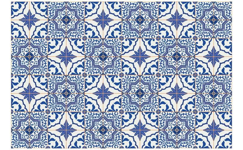 Azulejos Portuguese tile vinyl flooring, £59 per sq.m, Atrafloor