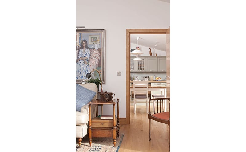 Doors by JB Kind and minimalist architraves and mouldings keep the interior feeling modern and different to its Georgian neighbour. Mike Scott Joiners were the main contractors.