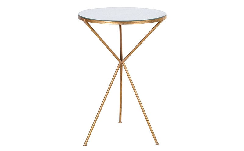 Gold Tripod Side Table, £172, Audenza