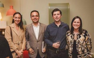 Lydia Bourhill, Manuel Vizcaino of Carl Hansen & Son, director Justin Baddon, Suzie Joyce of Carl Hansen & Son
