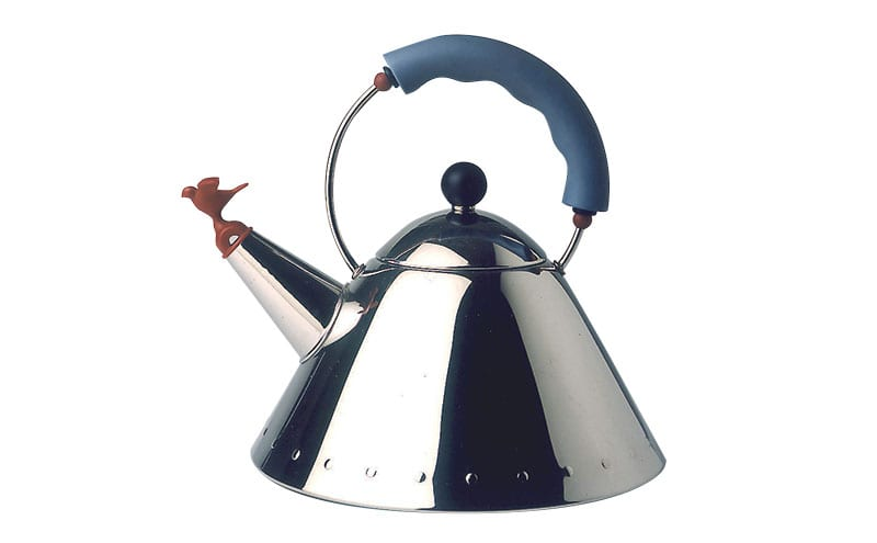 Over two million of his Singing Bird kettles for Alessi have been sold since he designed it in the early 1980s