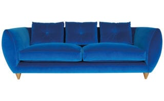 Petal Sofa in Blue Velvet, from £1,910, Rume