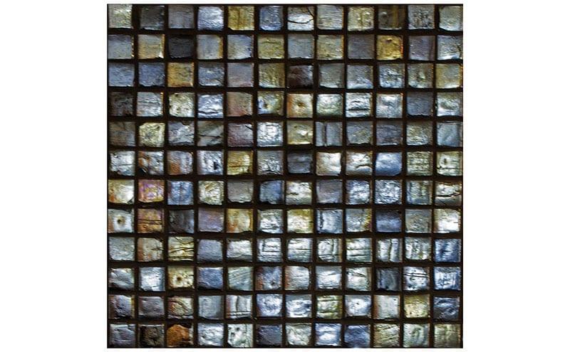 Sanctuary Square Mosaic Storm, £95 per sqm, The Baked Tile Company