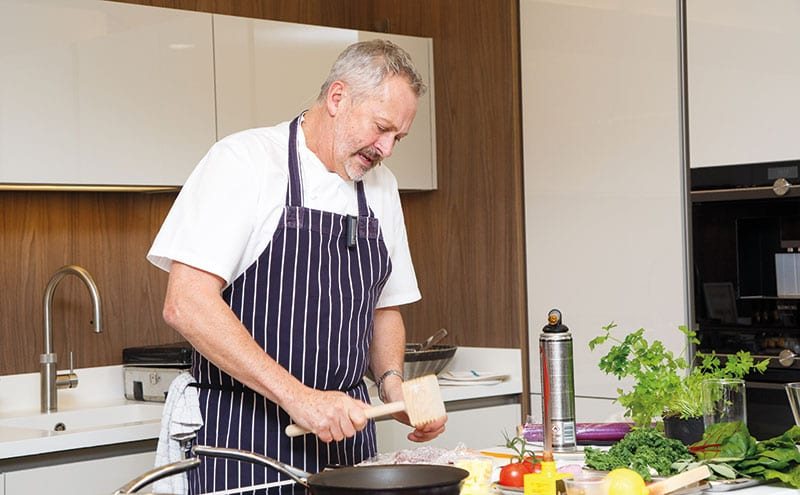 All eyes on chef as he cooks up a storm
