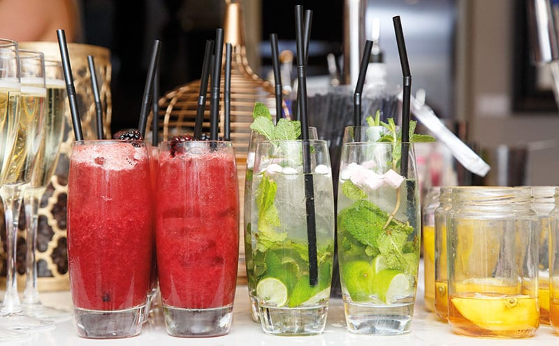 Colourful drinks and mouthwatering by Pavilion Glenrothes