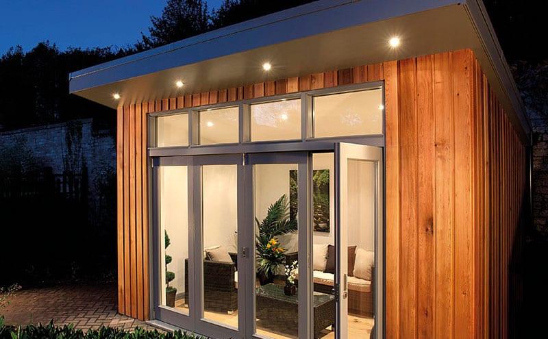 Luxury Cedar Garden Retreat, from £2,000 per sqm, Mozolowski & Murray