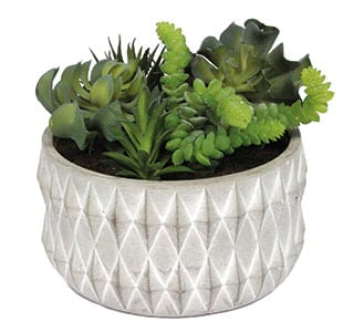 Artificial Mixed Succulent Pot, £42, The Contemporary Home
