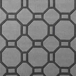 Hong Kong grey rug, from £67.99, Modern Rugs