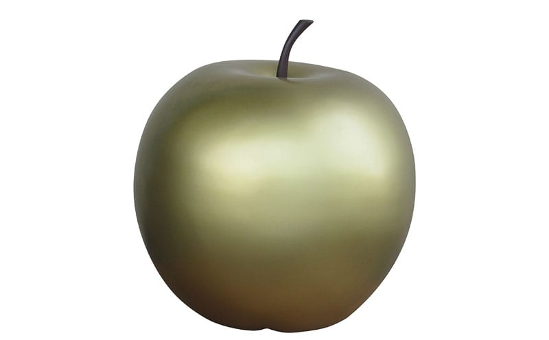 Golden fiberglass apple